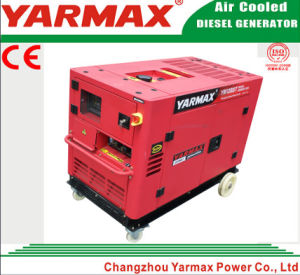 Yarmax Soundproof Three Phase 12kVA 12kw Diesel Genset Electric Generator pictures & photos