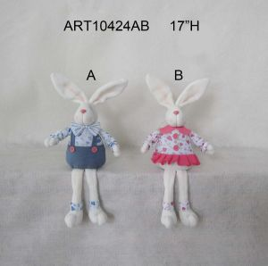 "17""H Easter Decoration Boy and Girl Bunny Sitter-2 Asst pictures & photos"