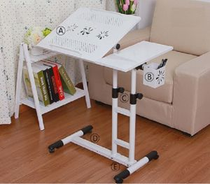 Computer Stand Laptop Desk Cart with Pen Holder and Fan pictures & photos