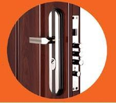 Steel Security Door with Glass (CF-066) pictures & photos