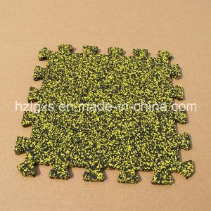 90% EPDM Granule Dots Interlocking Rubber Floor Tile, Carpet pictures & photos