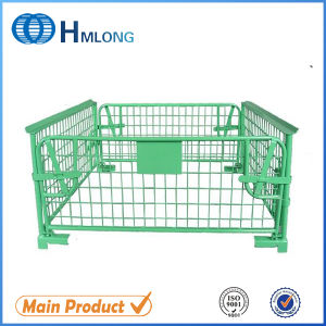 Folding Metal Steel Wire Mesh Stackable Pallet Cage pictures & photos