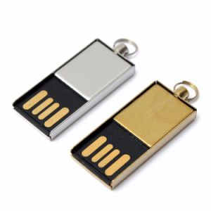 Metal Mini Waterproof USB Flash Drive 2.0 32GB 16GB 8GB 4GB Portable Keyring Pen Drive Gold Silver Color Memory Stick pictures & photos