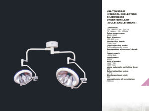 Integral Reflection Shadowless Operation Lamp (Multi-angle shape) pictures & photos