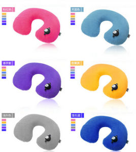 Factory Wholesale U-Shape Inflatable Travel Neck Pillow pictures & photos