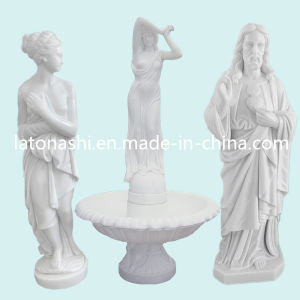 Hand Carved White Marble Figure Statue Sculpture for Garden pictures & photos