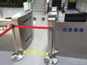 Flap Barrier Optical Turnstile for Banks′ Security pictures & photos