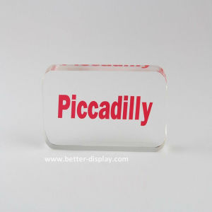 Clear Acrylic Nameplate Block Solid Logo Plate (BTR-I8008) pictures & photos