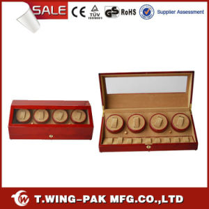 Hot Sale Luxury Wooden Watch Winder with Brass Lock