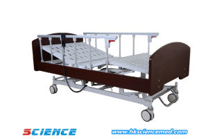 Home Care Three Functions Wood Electric Bed pictures & photos