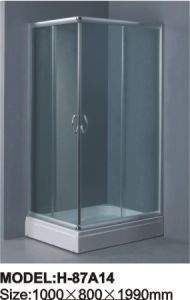 Simple Shower Room Tempered Glass Shower Enclosure pictures & photos
