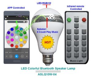 APP Control Timming LED Smart Bluetooth Speaker LED Light
