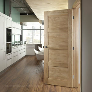 Simple Fashion Craftsman Style Kitchen Swing Door (S4-1010) pictures & photos