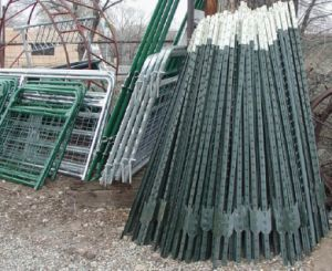 6FT 1.25lb American Standard Green Painted Studded T Post pictures & photos