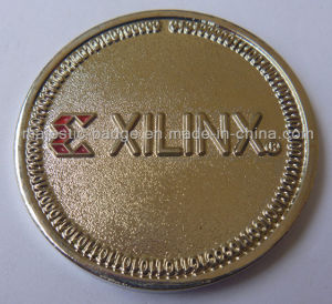 Gold Plating & Soft Enamel Customized Xilinx Coin pictures & photos