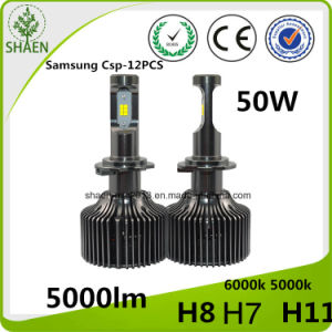 Upgraded 50W 5000lm P7 LED Car Headlight with Ce RoHS pictures & photos