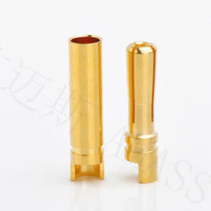 4.0mm Gold Plated Conenctor, Gold Bullet Connector