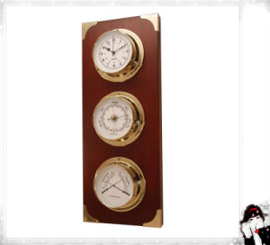 Nautical Clock Barometer and Hygrometer Three in One pictures & photos