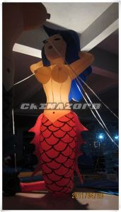 Beautiful Inflatable Lighting Mermaid Model From Guangzhou Factory