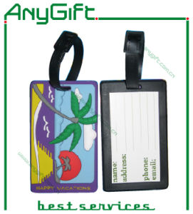 Soft PVC Luggage Tag with Customized Logo and Color pictures & photos