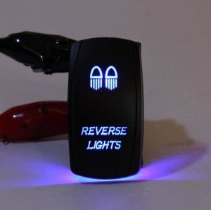 Car Styling Rocker Switch DC 12V-24V Dual Backlit Blue LED Laser Etched Arb Carling Pin 5 Marine Boat Shape Swich on-off Control pictures & photos