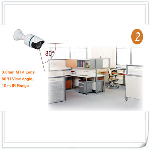 2.0 Megapixel IR Bullet Security Surveillance CCTV IP Camera with Poe pictures & photos