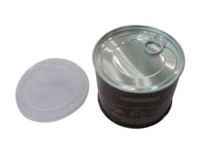 Packaging Tin Can with Plastic Cover and Aluminum Eoe pictures & photos