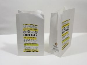 Printed White Kraft Paper Bag/Bread Bag/Food Packing Bag pictures & photos