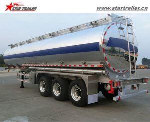Tri Axle Aluminium Alloy Tank Semi Trailer for Sale pictures & photos