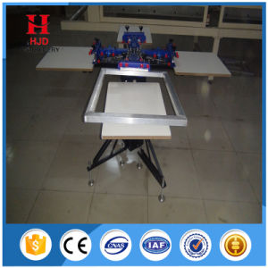 Manual T Shirt Screen Printing Machine for 4 Color 4 Station pictures & photos