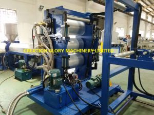 Three Horizontal Roller Calendar Plastic Sheet Extrusion Production Line pictures & photos