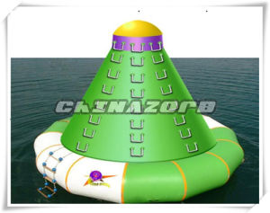 High Duty 0.9mm PVC Inflatale Water Tower Climbing Wall