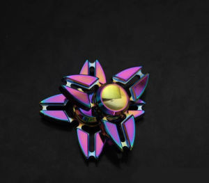 Colorful Rainbow Crab Pliers Style 4 Leaves Metal Fidget Finger Spinner Toys Hand Fingertip Spinner Gyro EDC Handspinner Desk pictures & photos