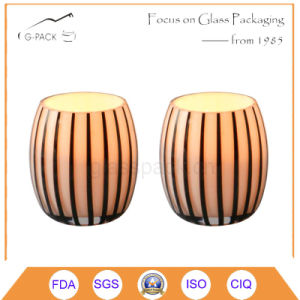 Pumpkin Shape Glass Candle Holder pictures & photos