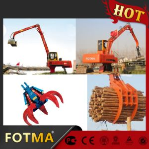 Mobile Electric Material Handler with Hydraulic Grapple pictures & photos