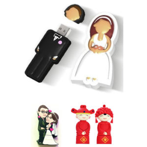 USB Flash Drive Wholesale Cartoon Bride, Wedding Gifts USB Stick USB Flash Card USB Memory Stick USB Flash Disk USB Memory Card Thumb Drive pictures & photos