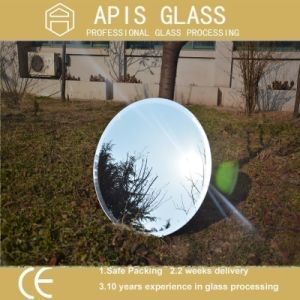 5mm Round Silver Coated Mirror Interior Shower Glass with Beveled Polished Edge pictures & photos