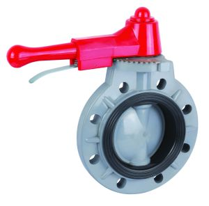 Plastic Butterfly Valve with Manual Operation pictures & photos
