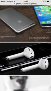 Original Bluetooth Earphone for iPhone7/7plus Wireless Headset pictures & photos