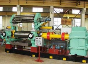 Two Roll Open Mixing Mill with Stock Blender of Bearing Type pictures & photos