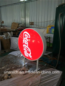 Round Ads LED Display Sign Vacuum Light Box pictures & photos