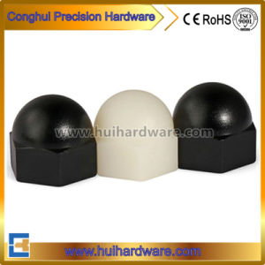 Black/White Domed Nylon Cap Nut Acorn Nut pictures & photos