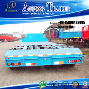 2 Row 4 Axle Low Bed Semi Trailer 100 Tons pictures & photos