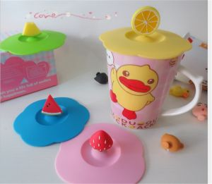 Cute Cat Design Silicone Cup Cover, Coffee Bowl Cover pictures & photos