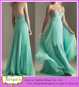 2013 Elegant Sweetheart Beaded Floor Length Chiffon Mint Green Prom Dress (SR59)