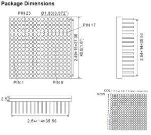 1.6 Inch 16X16 Single Color LED DOT Matrix pictures & photos