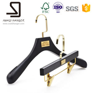 Black Wooden Hanger, Hanger of Clothes, Suit Hanger pictures & photos