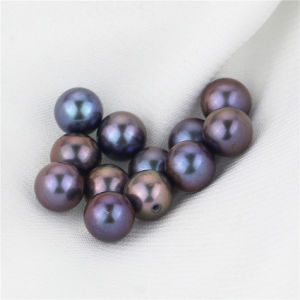 Snh Peacock Color 7-7.5mm Hot Sale Half-Drilled Freshwater Loose Pearls pictures & photos