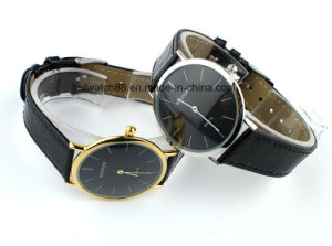 Hot Sale Alloy Thin Case Watch Gold Tone for Advertising pictures & photos