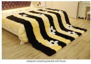 Genuine Australian Sheepskin Bed Blanket pictures & photos